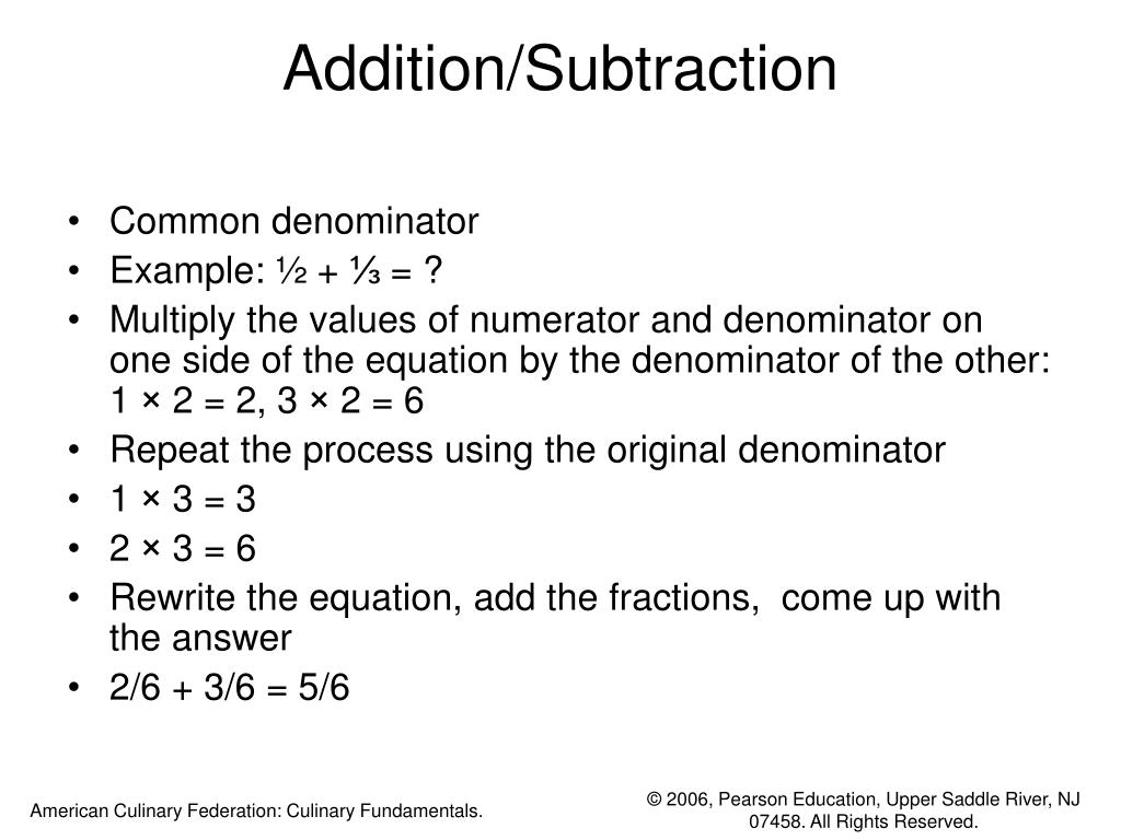 Addition/Subtraction