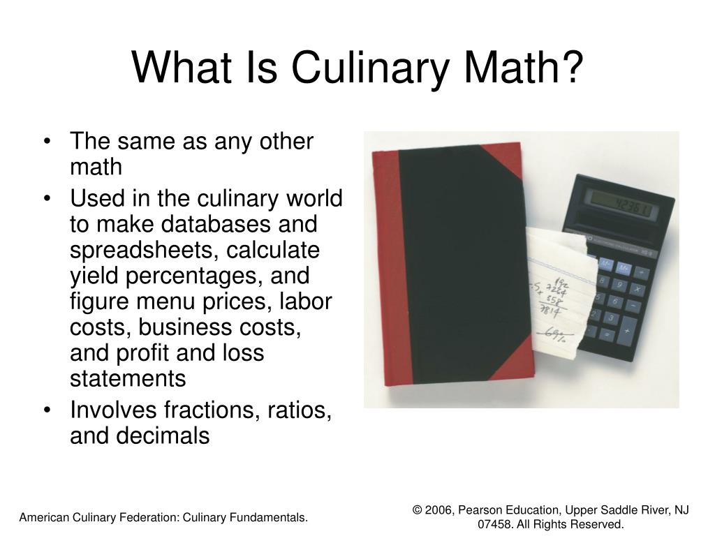 What Is Culinary Math?