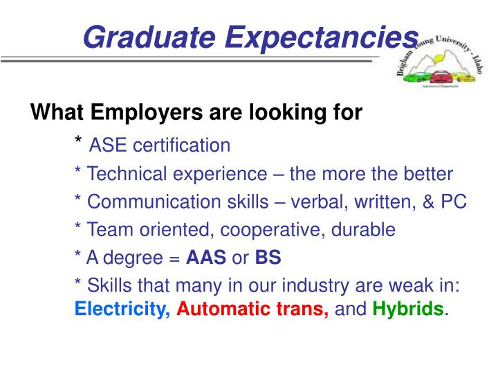 Graduate Expectancies