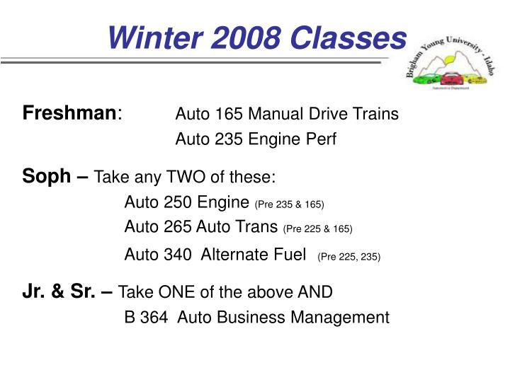 Winter 2008 Classes
