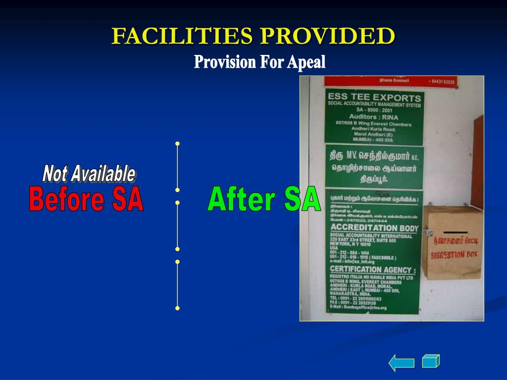 FACILITIES PROVIDED