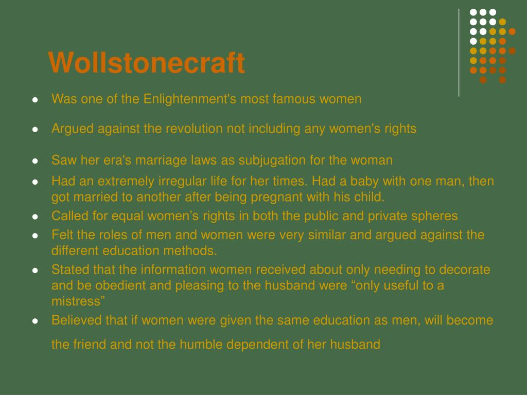 rousseau wollstonecraft Abstractthe article compares rousseau's and wollstonecraft's views on the imagination it is argued that though wollstonecraft was evidently influenced by rousseau, there are significant.
