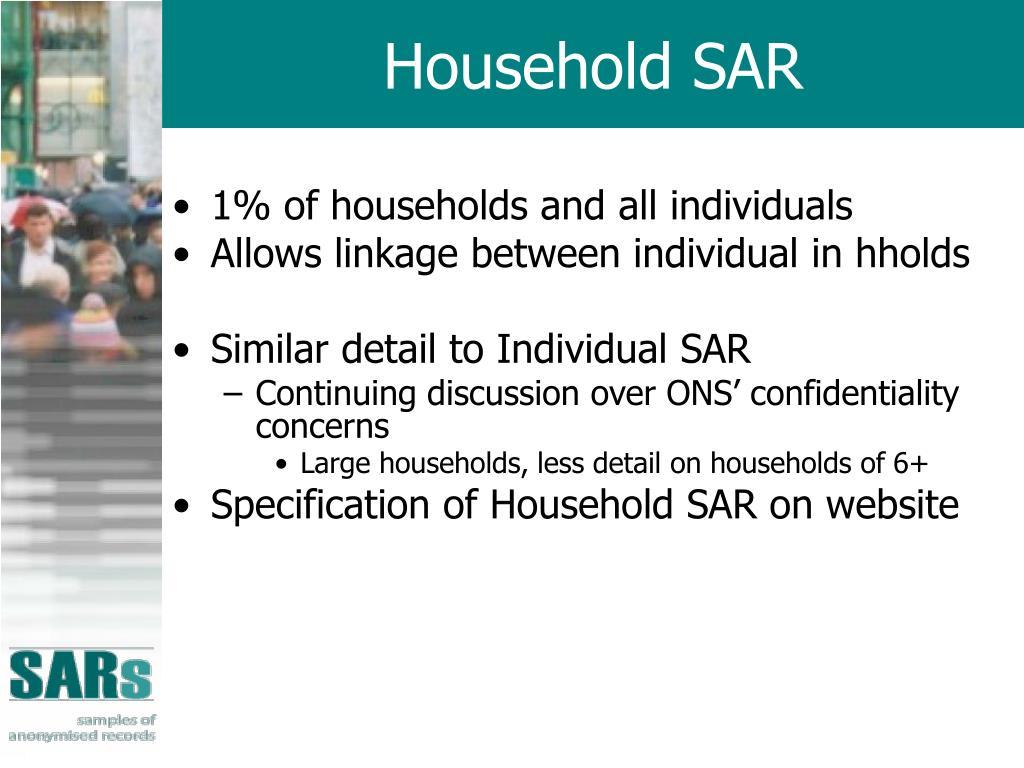 Household SAR