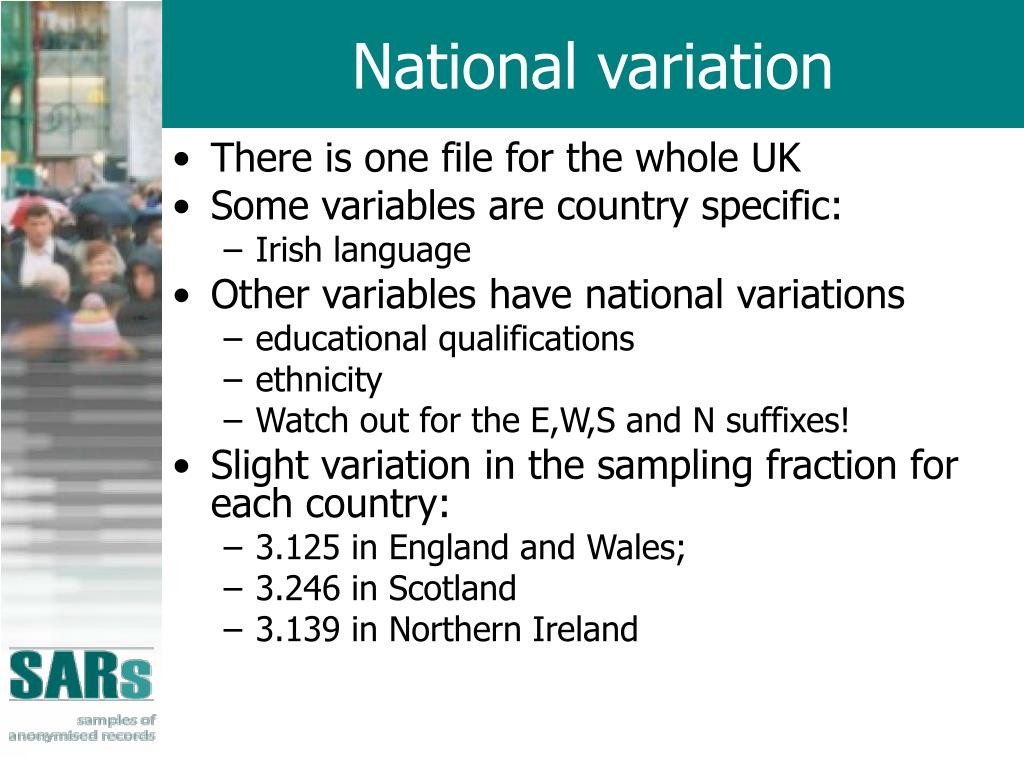 National variation