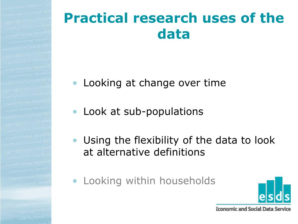 Practical research uses of the data