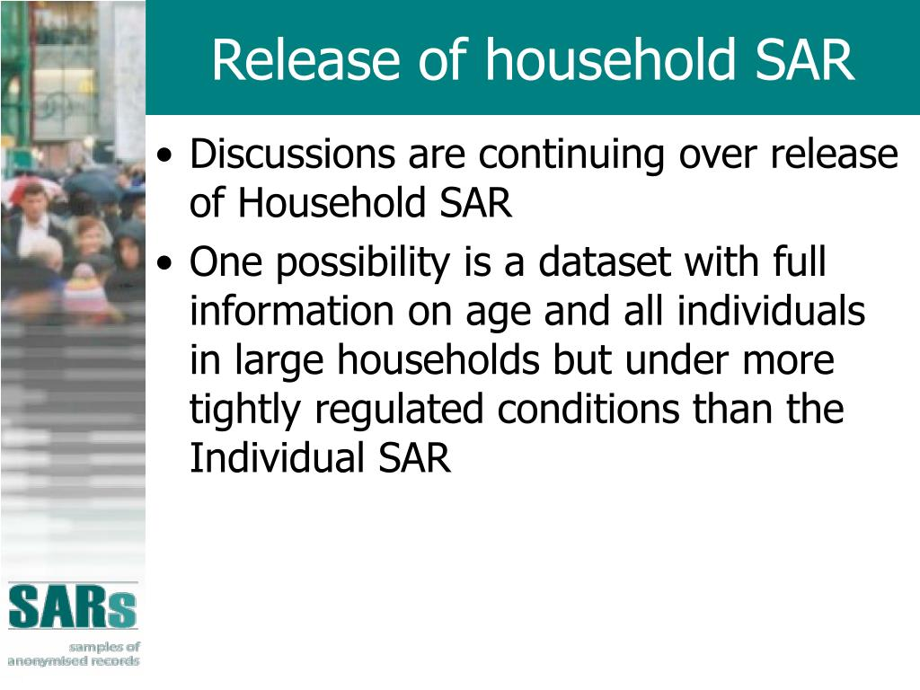 Release of household SAR