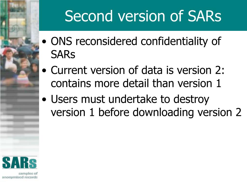 Second version of SARs