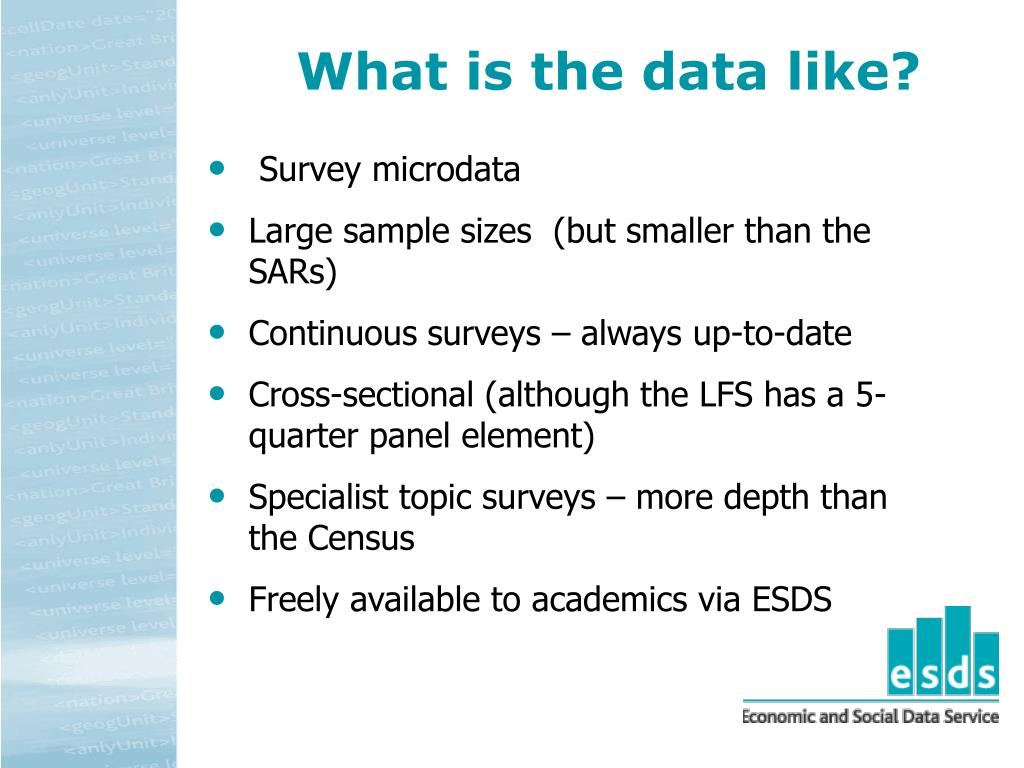 What is the data like?