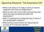 upcoming research the automotive cio