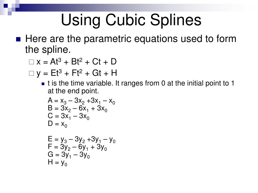 Using Cubic Splines