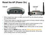 reset the ap power on