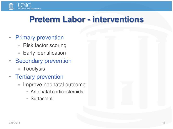 Preterm Labor - interventions