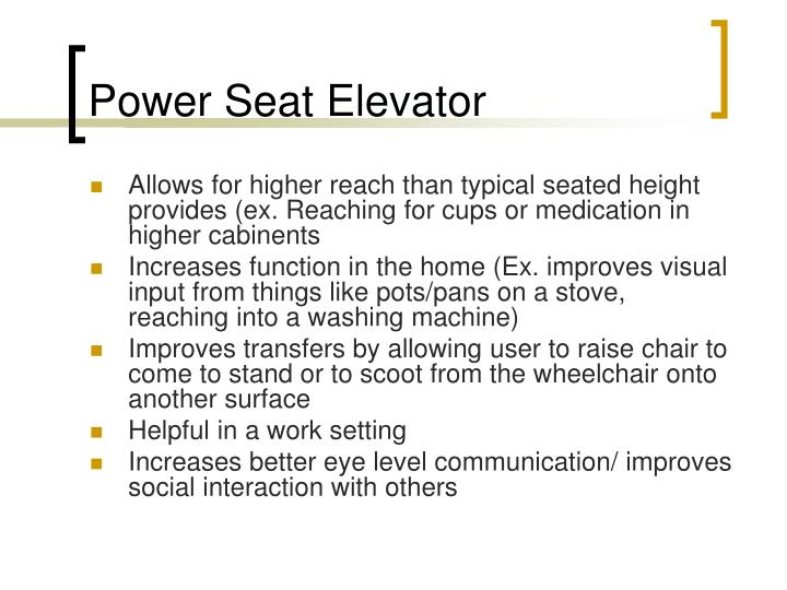 Power Seat Elevator