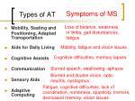 types of at