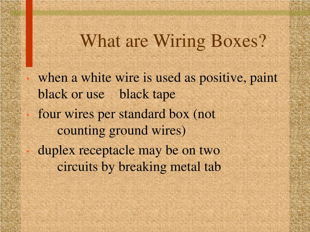 What are Wiring Boxes?