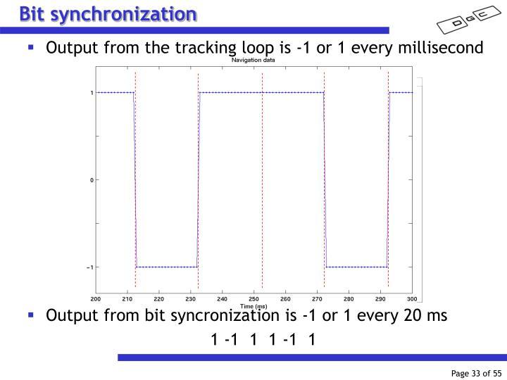Bit synchronization