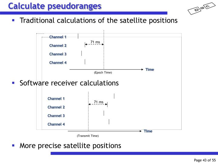 Calculate pseudoranges