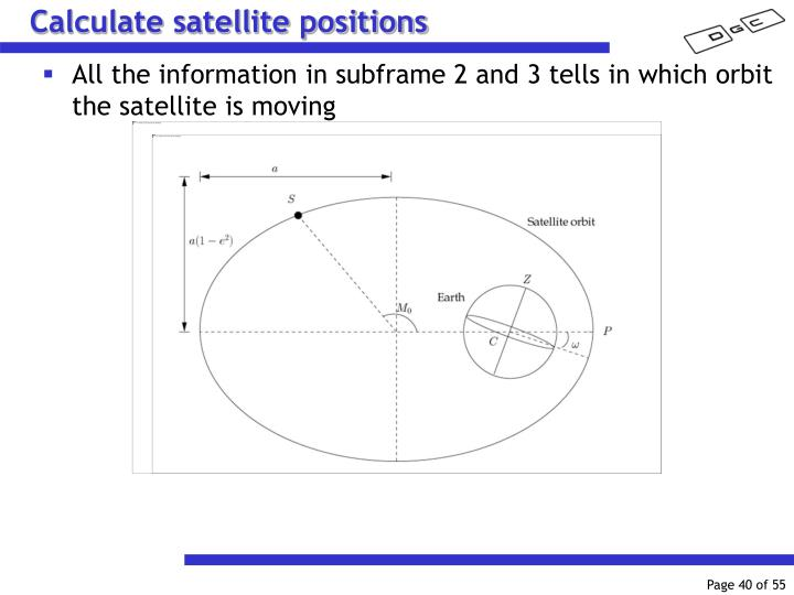 Calculate satellite positions