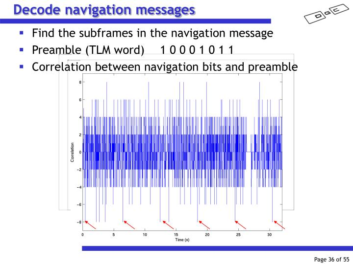 Decode navigation messages