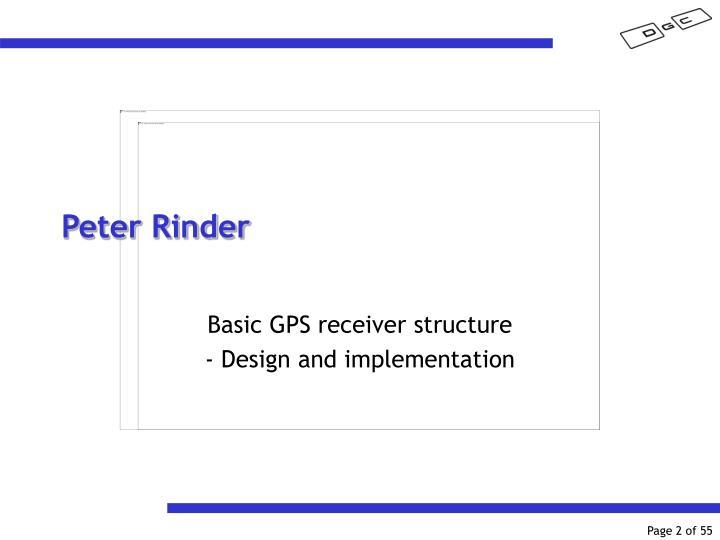 Peter Rinder