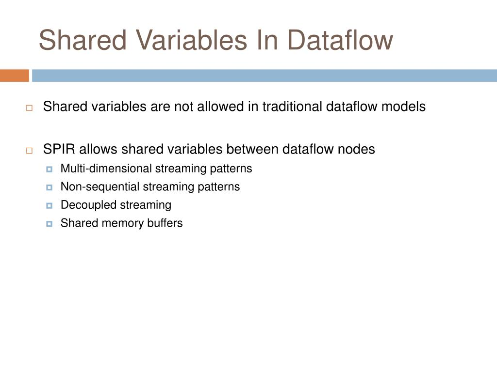 Shared Variables In Dataflow