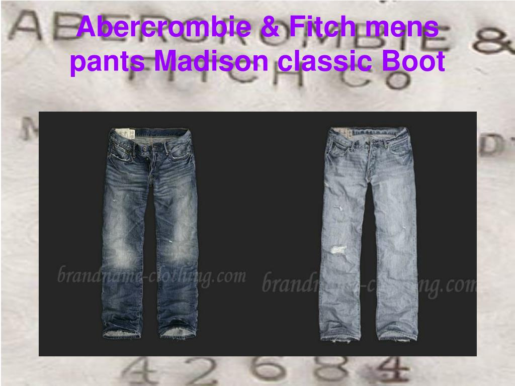 Abercrombie & Fitch mens pants Madison classic Boot