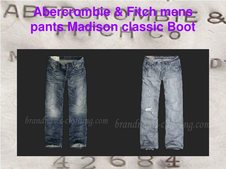 Abercrombie fitch mens pants madison classic boot