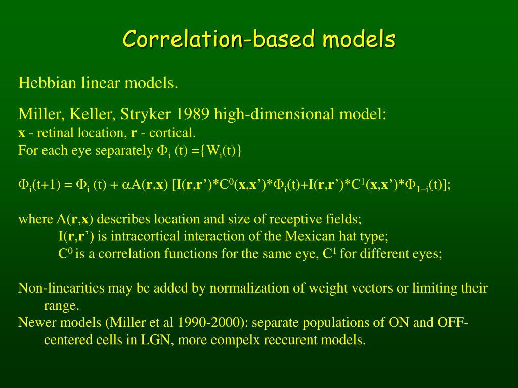 Correlation-based models