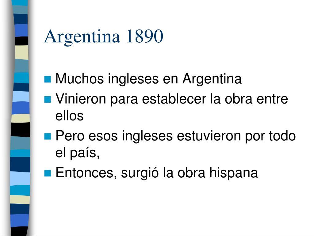 Argentina 1890
