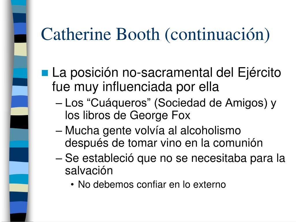 Catherine Booth (continuación)
