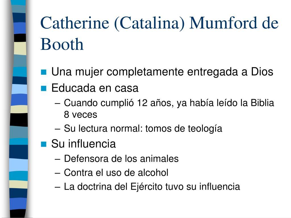 Catherine (Catalina) Mumford de Booth
