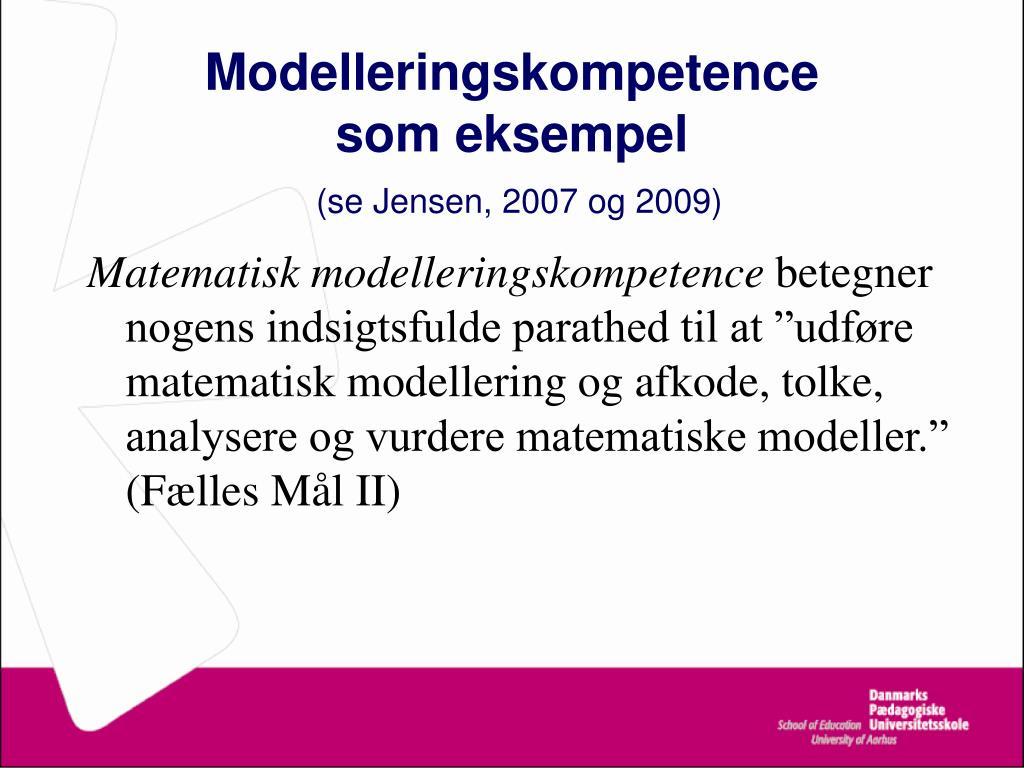 Modelleringskompetence