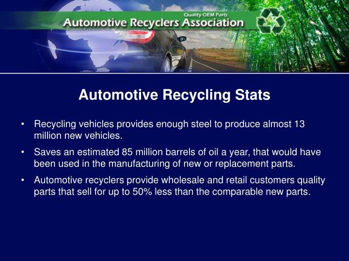 Automotive Recycling Stats