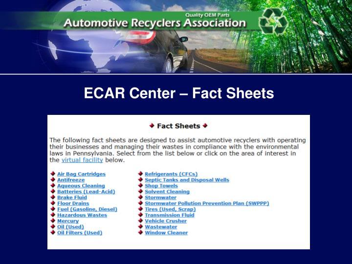 ECAR Center – Fact Sheets