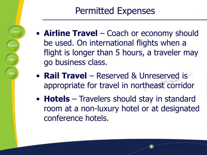 Permitted Expenses