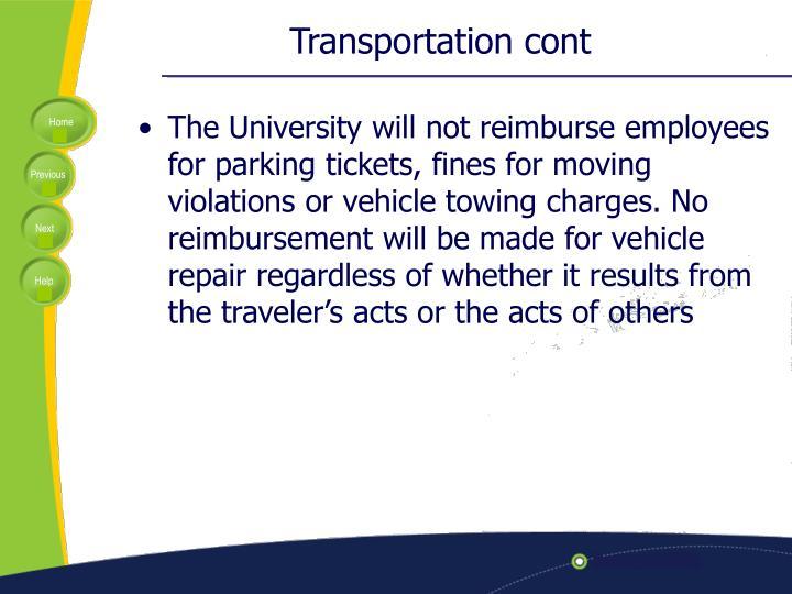 Transportation cont