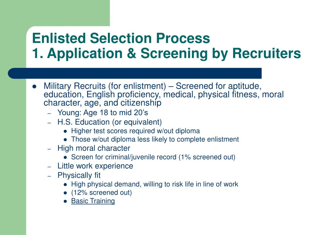 Enlisted Selection Process