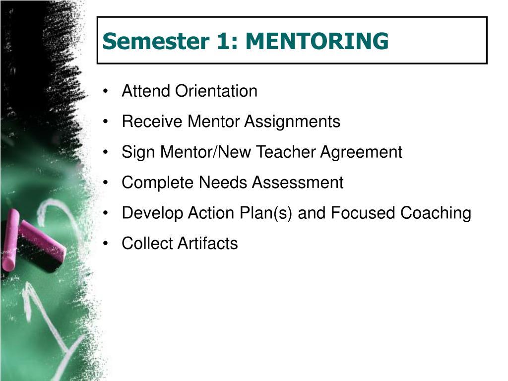 Semester 1: MENTORING