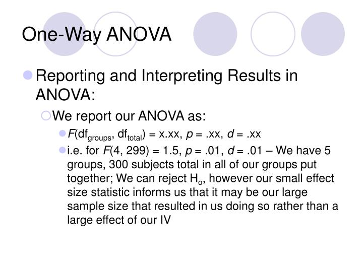 One-Way ANOVA