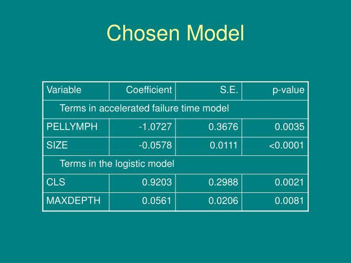 Chosen Model