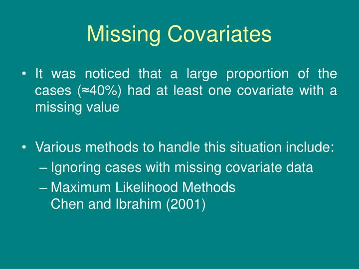 Missing Covariates
