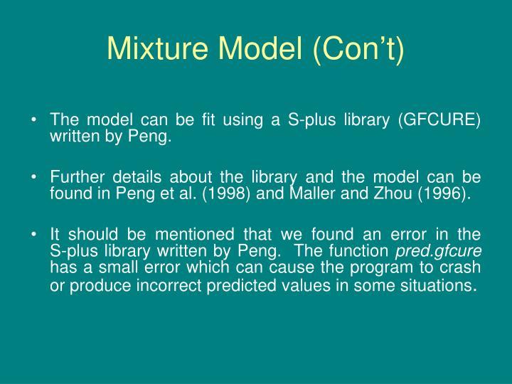 Mixture Model (Con't)