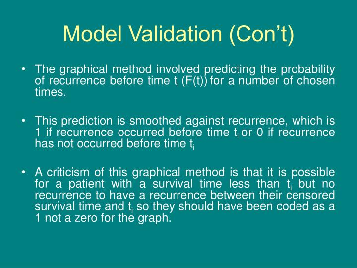 Model Validation (Con't)