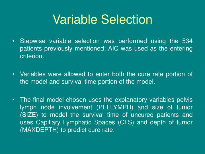 Variable Selection
