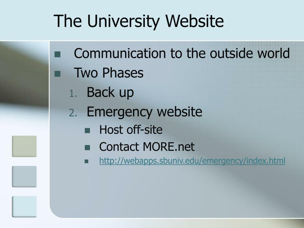 The University Website