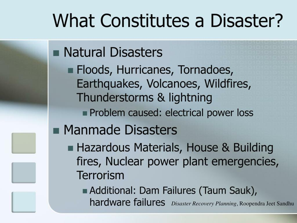 What Constitutes a Disaster?