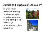 potential bad impacts of ecotourism