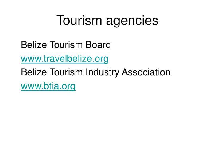 Tourism agencies