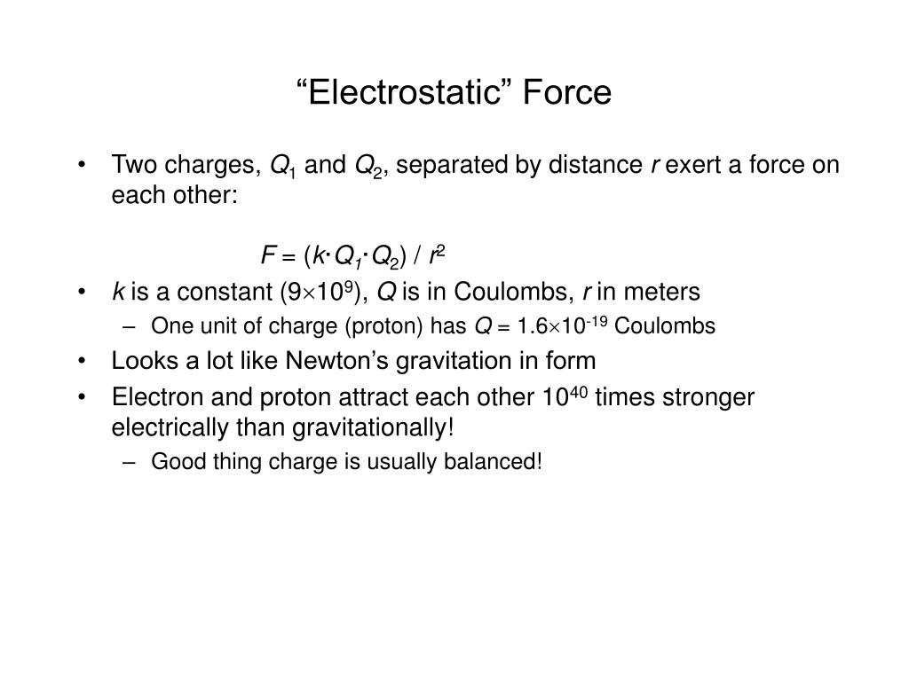 """Electrostatic"" Force"