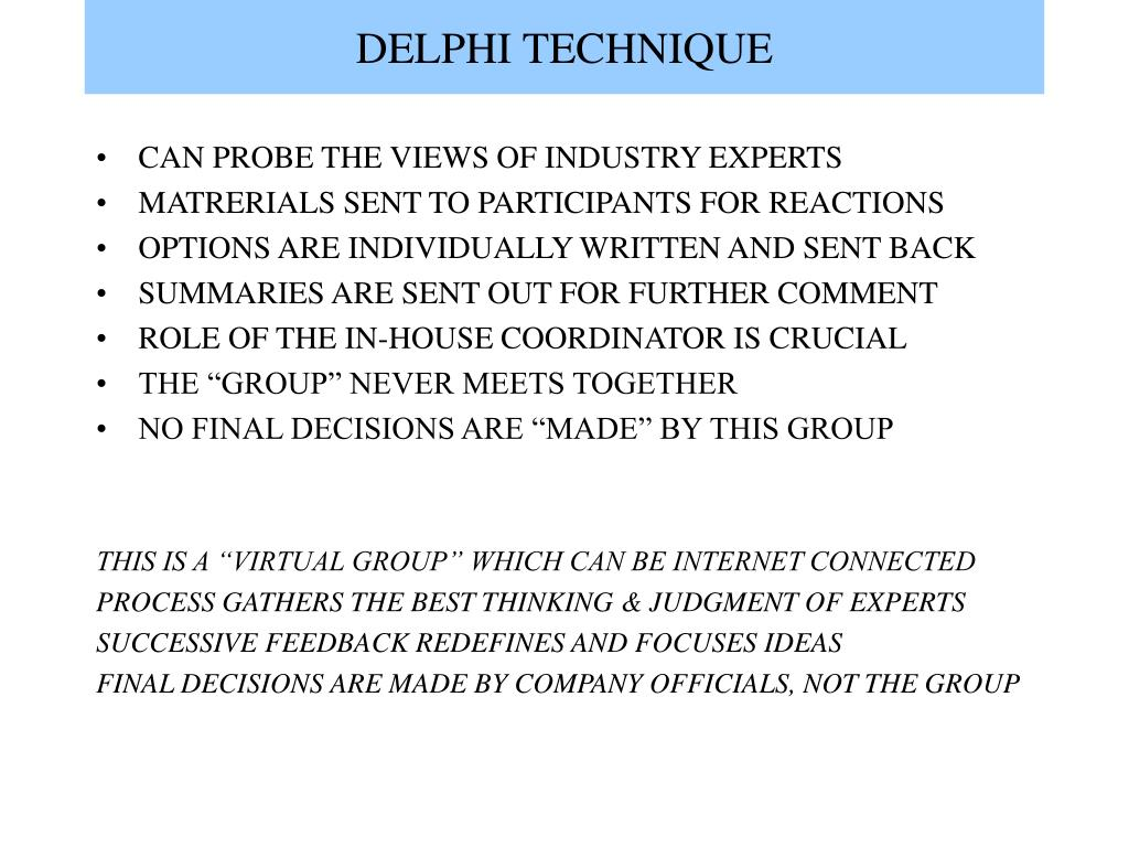 DELPHI TECHNIQUE